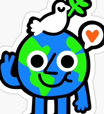 World Peace & Love Sticker