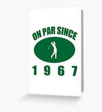 1967 Golfer's Birthday Greeting Card