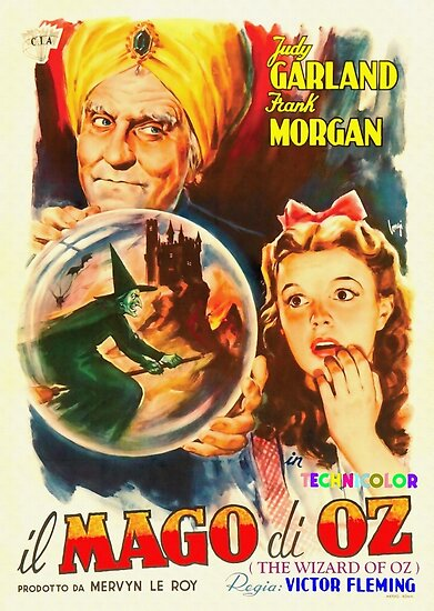 Italian poster of The Wizard of Oz by Art Cinema Gallery