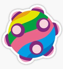 Colorful sticky rolling ball Sticker