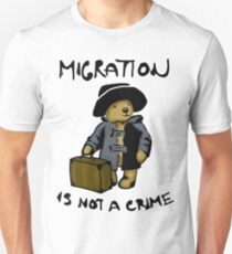 Migration is not a crime Unisex T-Shirt