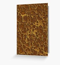 Golden Brown Gold Marble Greeting Card