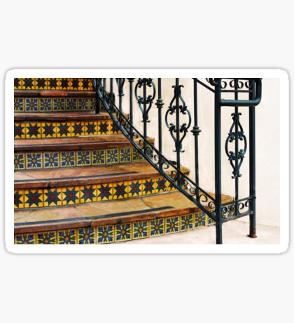 Colorful Tiles & Wrought Iron  Sticker