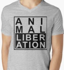 Animal liberation Men's V-Neck T-Shirt