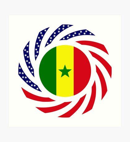 Senegalese American Multinational Patriot Flag Series Art Print
