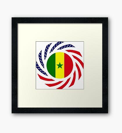 Senegalese American Multinational Patriot Flag Series Framed Print