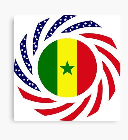 Senegalese American Multinational Patriot Flag Series Canvas Print