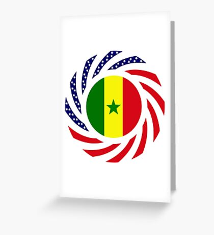 Senegalese American Multinational Patriot Flag Series Greeting Card