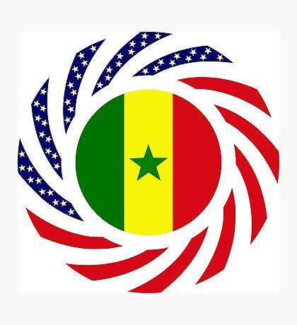 Senegalese American Multinational Patriot Flag Series Photographic Print
