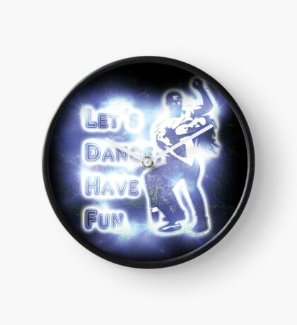 Lets dance have fun Clock