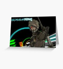 Metal Gear Rising: Revengance Raiden Greeting Card