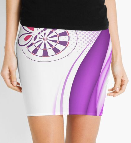 Bed And Butterfly Darts Shirt Mini Skirt