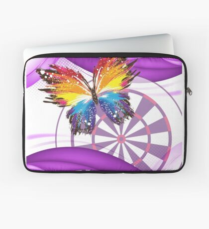 Butterfly And Dartboard Ladies Darts Shirt Laptop Sleeve