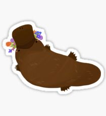 Flower Platypus Sticker