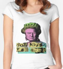Donald J Trump God Save The Queen - Sex Pistols Women's Fitted Scoop T-Shirt