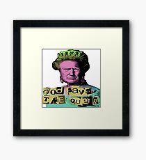 Donald J Trump God Save The Queen - Sex Pistols Framed Print