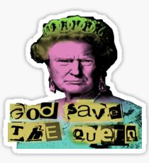 Donald J Trump God Save The Queen - Sex Pistols Sticker