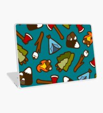 Camping is Cool Pattern Laptop Skin