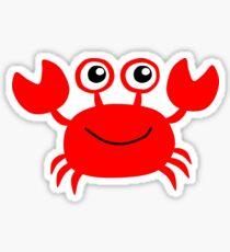 Funny red crab cartoon Sticker