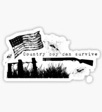 Country Boy can Survive Sticker
