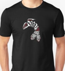 Pacific Northwest Black and White Salmon Icon T-Shirt