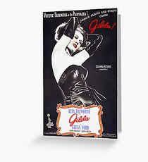 Argentinian poster of Gilda Greeting Card