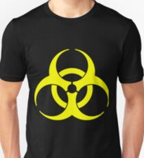 Biohazard Yellow on Black Unisex T-Shirt