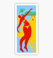 Gold Coast Red Bikini Girl Sticker