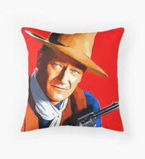John Wayne in Rio Bravo Throw Pillow