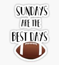 Football- Sundays Are The Best Days Sticker
