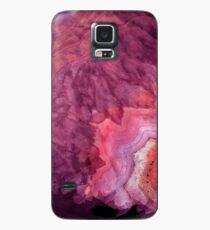 Fuchsia Aquarell Achat Geode Print Hülle & Klebefolie für Samsung Galaxy