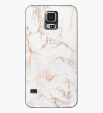 Kupfer Rose Gold Marmor Hülle & Klebefolie für Samsung Galaxy
