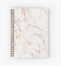 Copper Rose Gold Marble Spiral Notebook