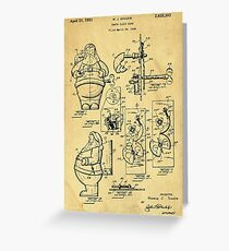 Santa Claus Bank Support Patent Drawing From 1953  Greeting Card