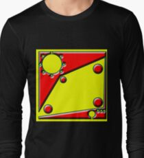 .Pattern B-2. .Centered And Fitted. Long Sleeve T-Shirt
