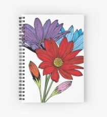 Colorful Daisies  Spiral Notebook