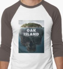 Oak Island Nova Scotia Canada Men's Baseball ¾ T-Shirt