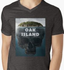 Camiseta de cuello en V Oak Island Nueva Escocia Canadá