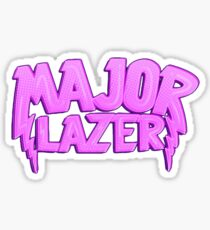 Major Lazer Pink Sticker