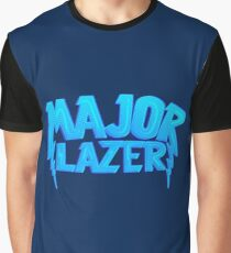 Major Lazer Blue Graphic T-Shirt
