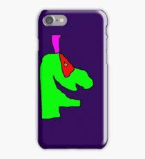 Weird green guy iPhone Case/Skin
