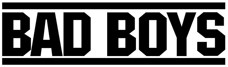 "bad boys logo "" stickersjaiden06   redbubble"