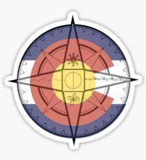 Pegatina Brújula de Colorado