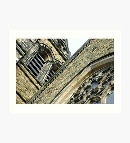 St. Brycedale Church facades Art Print