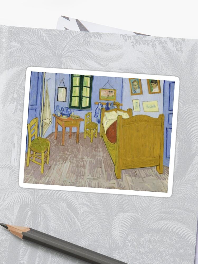 Vincent Van Gogh Bedroom In Arles 1889 Sticker By Thevintageartco