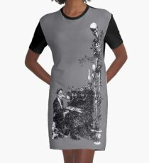 Plague Pianist Graphic T-Shirt Dress
