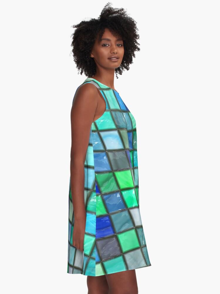 Alternate view of Tile Squares Design by Julie Everhart A-Line Dress