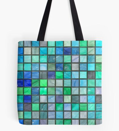 Tile Squares Design by Julie Everhart Tote Bag
