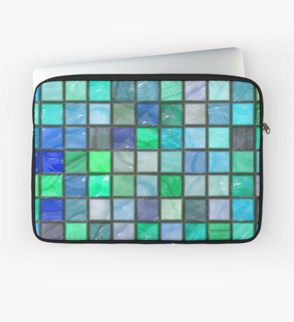 Tile Squares Design by Julie Everhart Laptop Sleeve