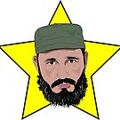 Fidel Castro Against Yellow Star by ambriente